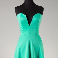 Jade Plunge Dress