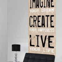 ideeli | LOT26 STUDIO Imagine Create Live Canvas Wall Hanging