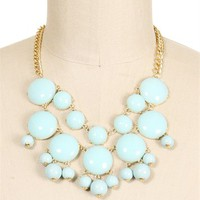 Gold/Mint Short Bubble Necklace