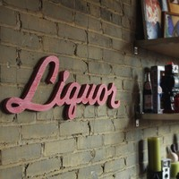 Liquor Lounge recycledwood sign by WilliamDohman on Etsy