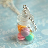 french macarons in a jar necklace - jillicious