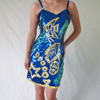 Vintage Blue 1980s Dress for Prom or Party by ItchforKitsch