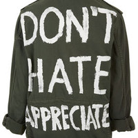 'Don't Hate Appreciate' Jacket - Rave New World  - Collections