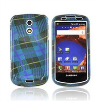 Samsung Epic 4G Hard Case - Blue, Black, Purple Plaid Weave