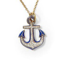 Juicy Couture Knots & Anchors Anchor Necklace | Piperlime