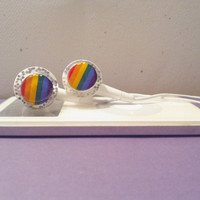 Show your Pride or just like Rainbow Sparkle colored earbuds