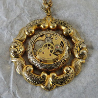 Steampunk  Damascene Necklace Free shipping by CulturalDiversion