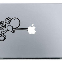 Yoshi macbook decal macbook sticker Apple mac decals by terryzhong