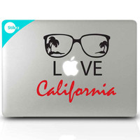Mac Decal Sticker for your computer, laptop, board, or wall - Love California - Decal 212