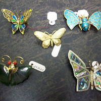 Vintage butterfly pins lot of 5 | eBay