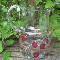 Rose Pod Pitcher by monkmama54 on Zibbet
