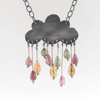 Cumulonimbus Statement Sterling Silver Cloud by AdeloCreations
