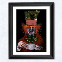 Mad Hatter art print by purplecactusdesign on Etsy