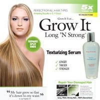 Amazon.com: Long N Strong 2-in1 ANTI-FRIZZ and HAIR GROWTH SERUM! Leave-in Texturizing Serum repairs hair while it helps it grow hair longer and stronger and relaxing frizzy hair: Beauty