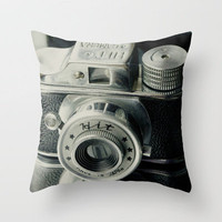 Hit Vintage camera Throw Pillow by Irne Sneddon | Society6