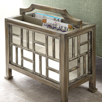 Mirrored Magazine Rack & Umbrella Stand - Horchow