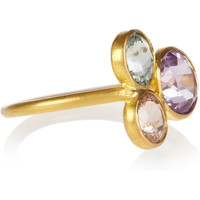 Marie-Hélène de Taillac | Mad Men 22-karat gold, tourmaline and amethyst ring | NET-A-PORTER.COM