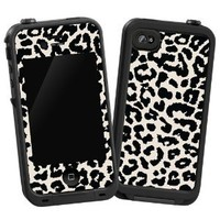 Amazon.com: Black and White Leopard &quot;Protective Decal Skin&quot; for LifeProof 4/4S Case: Cell Phones &amp; Accessories