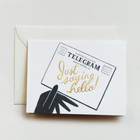 Rifle Paper Co. - &#x27;Hello&#x27; Telegram Card