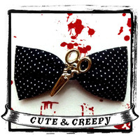 Cut Up Hair Clip by cuteandcreepyinc on Etsy