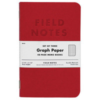 Field Notes Red Blooded - 3 pack - Red