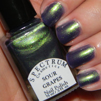 SOUR GRAPES Duochrome Nail Polish Green to by SpectrumCosmetic