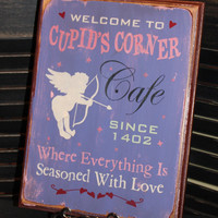 Cupid's Corner Cafe by TheGingerbreadShoppe on Etsy