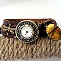 Bead watch wristwatch with working watch by VillaSorgenfrei