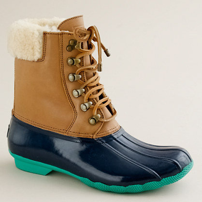 Sperry Top Sider short Shearwater boots from J Crew