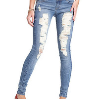 Celebrity Pink Jeans Juniors Jeans, Skinny Distressed - Juniors Jeans - Macy's