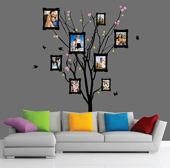 Family Tree Picture Frame Frame Wall From Peelnstickdecals