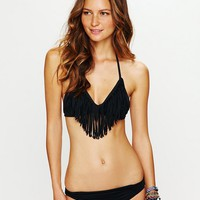 L*Space Womens Fringe Halter Top -