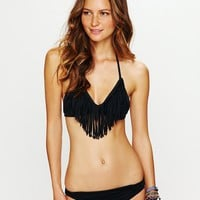 Free People Fringe Halter Top