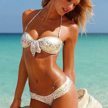 Metallic Heart Bandeau Top - Beach Sexy- - Victoria's Secret