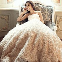 Blossom Off shoulder wedding dress from WeiweiK