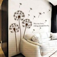 Amazon.com: Dandelion nursery kids room removable quote vinyl wall decals stickers AY695: Home & Kitchen