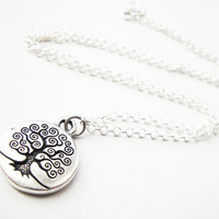 Tree of Life Necklace Sterling Silver Chain simple necklace by RobertaValle