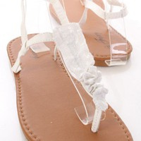 White Faux Leather Sequin Ruffle T Strap Sandals @ Amiclubwear Sandals Shoes online store sale:Sandals,Thong Sandals,Women&#x27;s Sandals,Dress Sandals,Summer Shoes,Spring Shoes,Wooden Sandal,Ladies Sandals,Girls Sandals,Evening Dress Shoes,Casual Sandals,Keen