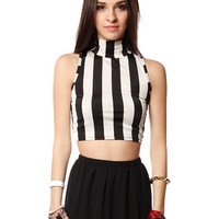 Papaya Clothing Online :: VERTICAL STRIPE CROP TOP
