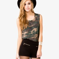 Studded Camo Muscle Tee