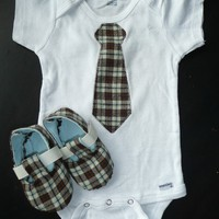 Just Like Daddy Tie Onesuit by PitterPatterShop on Etsy