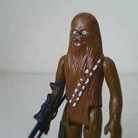 Vintage Star Wars Action Figure, Chewbacca, 1977 Kenner - classic toys, for him, for men, collectibles, monster, alien, galaxy, sci fi