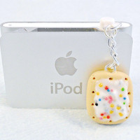 Poptart Dust Plug Charm, For iPhone or iPod, Cute, Kitsch, Kawaii :D