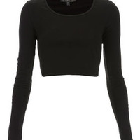 Petite Long Sleeve Crop Tee