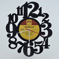 Vinyl Record Clock (artist is Marvin Gaye)