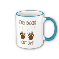 Honey Badger Don't Care Mugs from Zazzle.com