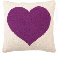 Heart Hook Pillow - Purple - Pillows - Bedding