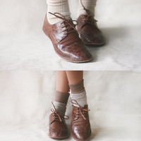 The Club - Women's Leather  Oxfords - CUSTOM FIT