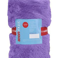 Teen Vogue Faux Fur Blanket - Throws - Bedding