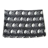 Cheap black mini skull pattern chiffon scarf fs0061 [cs0061]- US$15.00 outlet free shipping with top quality - scarves4ever.com